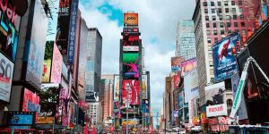 Times Square Drastic Effects Of The Pandemic